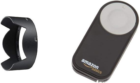Nikon HB-32 - Parasol para Objetivos, Color Negro + AmazonBasics ...