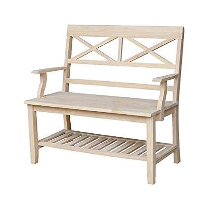 Bench With Bookshelf Underneath