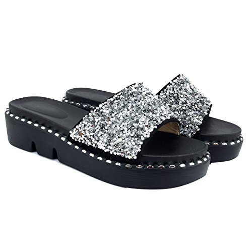 Silber Femme Mules Mules Femme JYshoes Silber JYshoes JYshoes Mules HH4qwp