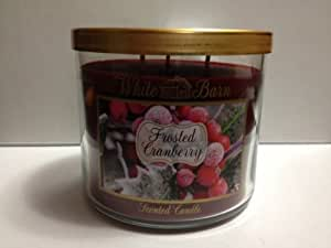 Amazon.com: White Barn Frosted Cranberry Scented Candle 3 ...
