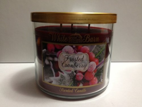 (White Barn Frosted Cranberry Scented Candle 3 Wick, 14.5 oz.)