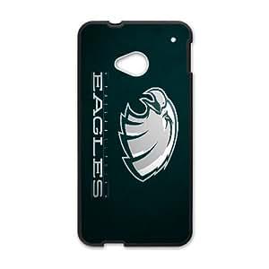 Philadelphia Eagles Team Logo HTC One M7 Cell Phone Case Black persent zhm004_8439598