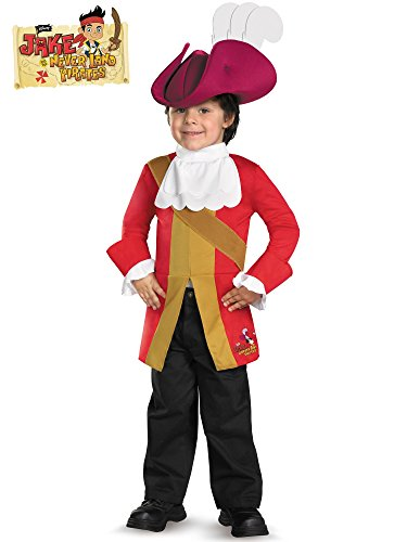 Disguise Boy's Disney Junior Jake and The Neverland Pirates Captain Hook Classic Toddler Costume, 3T-4T -