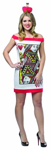 Rasta Imposta Women's Queen Of Hearts Dress, Multi, One Size (Queen Of Hearts Card Adult Costume)