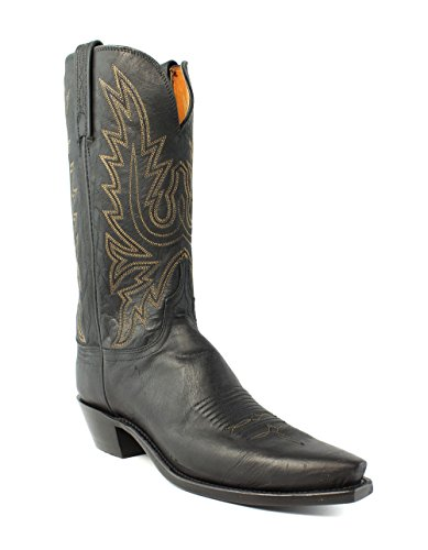 1883 by Lucchese Women's N4559.54 Boot,Black Mad Dog Goat,7.5 C US Burnished Mad Dog Goat