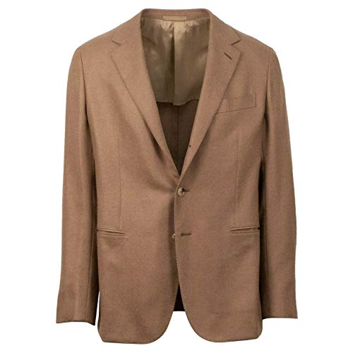 Caruso Camel Brown Camel Hair Blend 2 Button Sport Coat