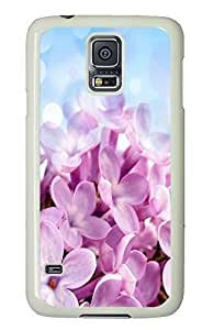 Samsung S5 good case Lilac Flower PC White Custom Samsung Galaxy S5 Case Cover