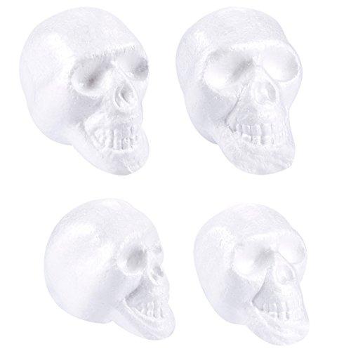 Craft Foam Skull - 4-Pack Polystyrene Foam Skull