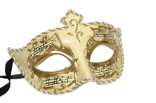 Best Choice: Venetian Paper Mache Mask w/ Music Notes
