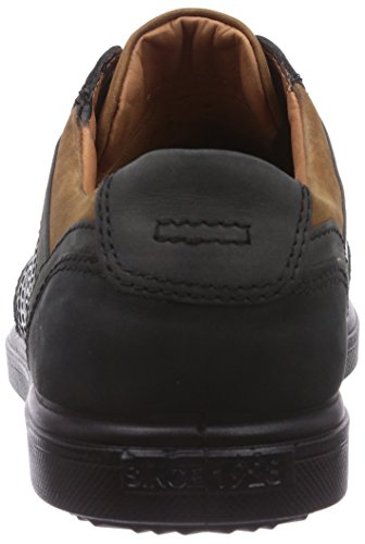 Schwarz hombre Shark 1928 Negro Schwarz cuero zapato oxford de Jomos X0Tqf