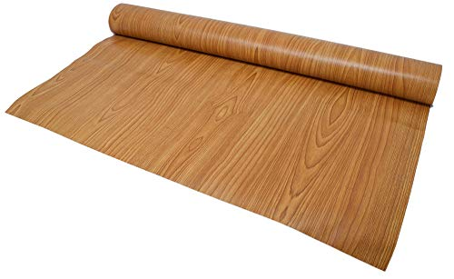 Premium Textured Vintage Wood Grain Self-Adhesive Vinyl Contact Paper for Shelf Liner, Drawer Liner and Arts and Crafts Projects 24 inches x 15 Feet (Knotty Teak)