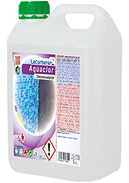 DESINCRUSTANTE AQUACLOR - Elimina la Cal, el salitre, Suciedad, velos Blancos y humedades. (5 litros): Amazon.es: Jardín