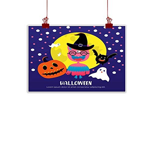 Mannwarehouse Wall Art Decor Poster Painting Halloween Greeting Card Decorations Home Decor 24