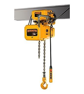 3 Ton Harrington Nerm Electric Chain Hoist 15 Ft Lift W