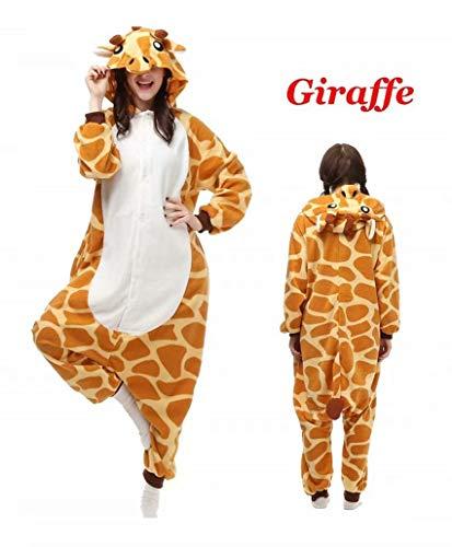 Unisex Animal Onesies Teen Giraffe Adult Onesies Pajamas Sleepwear Giraffe -