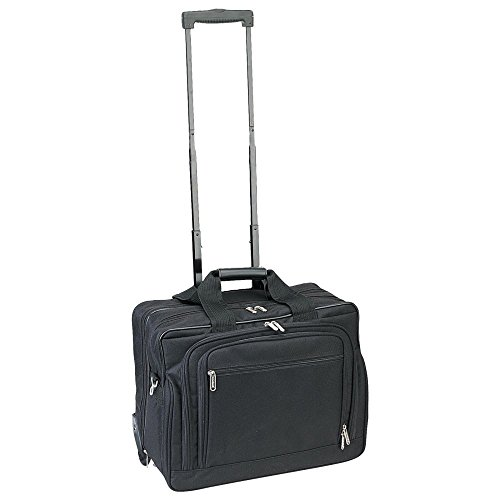 Preferred Nation 4515 Rolling Compact Laptop Catalog Case, Black - 4 Wheel Rolling Briefcase