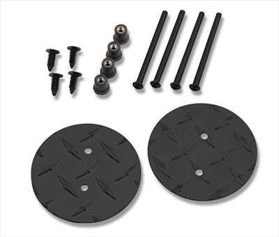 Warrior Products 1506PC Powder Coated Finish Mirror Mount Hole Plug for Jeep JK (Mirror Filler Plate)