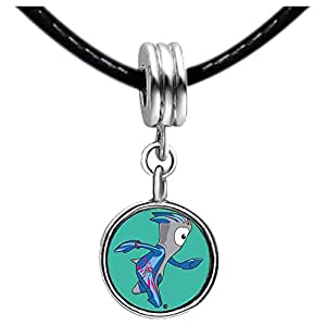 Chicforest Silver Plated London 2012 Olympic Games Mandeville mascot Photo Light Amethyst Crystal June Birthstone Flower dangle Charm Beads Fits Pandora Charm