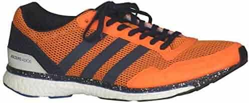 46565979f857ea adidas Men s Adizero Adios 3 Running Shoes  HiResOrange CollegiateNavy HiResBlue