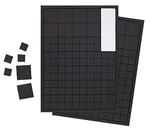 220 placas magnéticas extra fuertes 10 x 10 mm y 20 x 20 mm. Placas magnéticas autoadhesivas