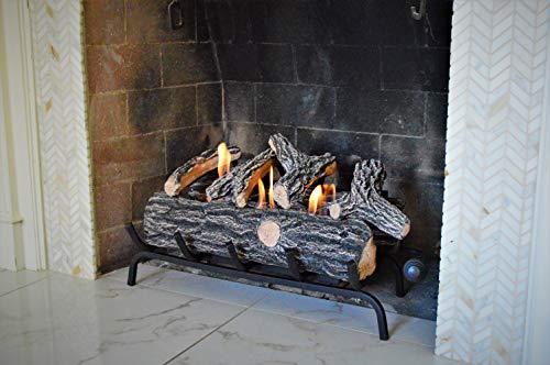 Terra Flame Gel Log Set Fireplace Insert, 24 Inch, Brown (Flame Fireplace Gel)