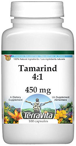 Tamarind 4:1-450 mg (100 Capsules, ZIN: 521500) - 2 Pack by TerraVita (Image #1)