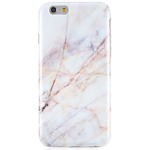 iPhone 6 Case, iPhone 6s Case,VIVIBIN Cute Light Pink Marble for Women Girls Clear Bumper Best Protective Soft Silicone Rubber Matte TPU Cover Slim Fit Best Phone Case for iPhone 6/iPhone 6s