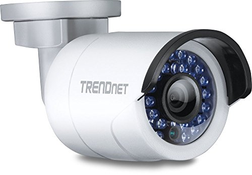 TRENDnet Indoor/Outdoor Bullet Style, PoE IP Camera with 3 Megapixel Full 1080p, IP66 Rated Housing, Night Vision up to 100ft, ONVIF, IPv6, TV-IP310PI (Certified Refurbished)
