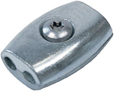 Edelstahl V4A Eiform Seilklemme f/ür 6mm Drahtseil Drahtseilklemme Klemme Niro