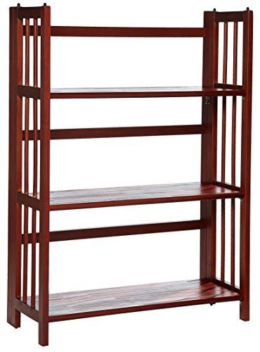 (Casual Home 3-Shelf Folding Stackable Bookcase (27.5