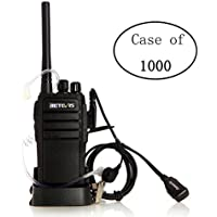 Case of 1000 ,Retevis RT21 Two Way Radio Rechargeable UHF 400-480MHz 16 CH VOX Scrambler Squelch Security Walkie Talkies and 2 Pin Covert Air Acoustic Earpiece