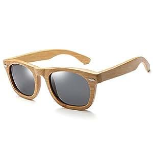 Polarized Rivet Men Full Bamboo Sunglasses Gafas de Sol de ...