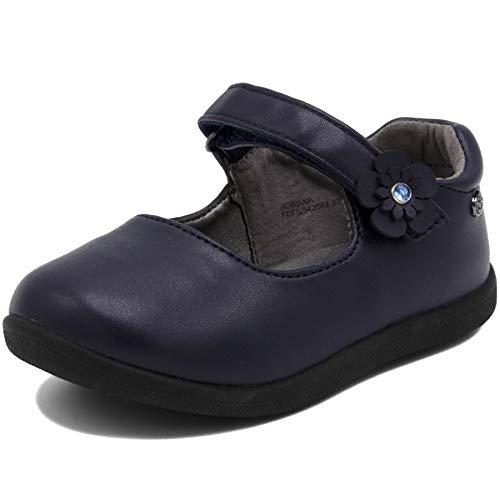 Naturino Toddler Girl Shoes (Naturino Express Kids Adriana Girls Slip On Mary Jane Flat Dress Shoe Loafer Navy 8)