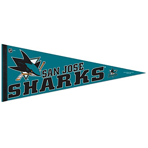 NHL San Jose Sharks WCR41945113 Carded Classic Pennant, 12'' x 30'' by WinCraft