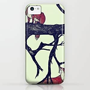 Society6 - Foxes First Meeting iPhone & iPod Case by Samclaire
