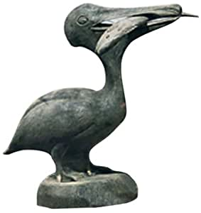 Ladybug pelican with fish outdoor statue for Fish garden statue