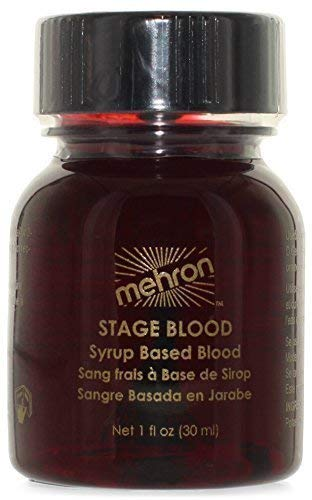 Halloween Blood Dripping Makeup (Mehron Makeup Stage Blood (1 Ounce) (Bright)