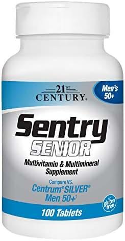 21st Century Sentry Senior Men 50Plus Tablets, 100 Count