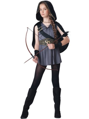 Teen Girls Halloween Costumes (InCharacter Costumes Tween Kids Hooded Huntress Costume, Grey/Silver M (10-12))