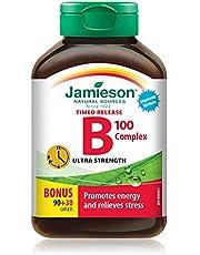 B100 Complex Ultra Strength Timed Release - Bonus Size, Non-GMO, Gluten-Free