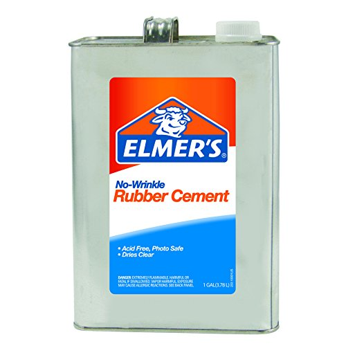 ELMERS No-Wrinkle Rubber Cement, 1 Gallon, Clear (234) ()