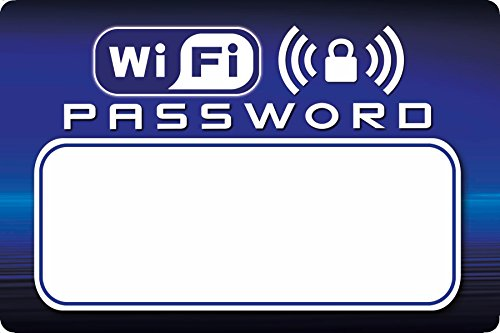 Voisin Products WiFi Password Dry-Erase Refrigerator Magnet - Useful for Guests/Vacation Rentals (4