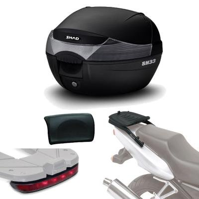SHAD - SH33LUREHE110/359 : Kit fijacion + maleta baul trasero + luz de freno + respaldo regalo SH33 KAWASAKI VERSYS 650: 2015-2017 - - -: Amazon.es: Coche y ...
