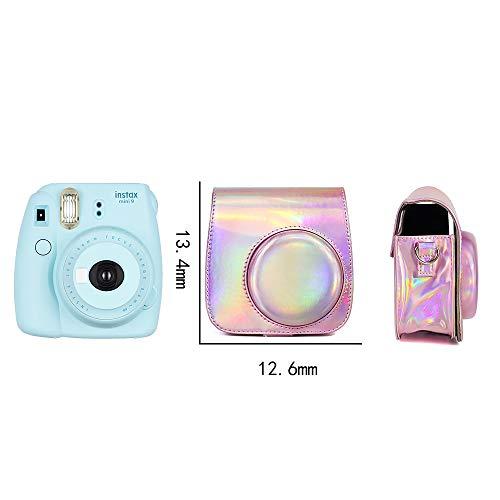 WOGOZAN Mini Camera Case Bag for Fujifilm Instax Mini 9 8 8+ instax case Premium PU Leather with Shoulder Strap