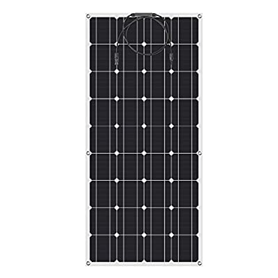 100W 18V 12V Solar Panel Charger Monocrystalline Lightweight Flexible Solar Charger with MC4 Connector for RV, Boat, Tent, Cabin