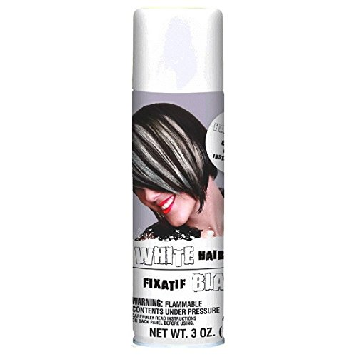 Temporary White Hair Color Spray (Amscan Hair Spray, Party Accessory,)