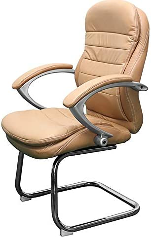 Bergamo Conference Office Chair Genuine Leather Cream Amazon Co Uk Office Products