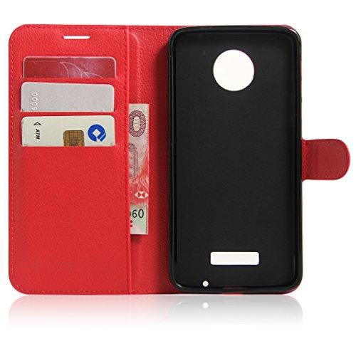 Funda Motorola MOTO Z Play,Manyip Caja del teléfono del cuero,Protector de Pantalla de Slim Case Estilo Billetera con Ranuras para Tarjetas, Soporte Plegable, Cierre Magnético H