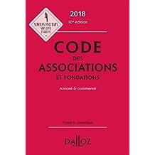 Code Associations et Fondations 2018, Annoté et Commenté 10e Éd.