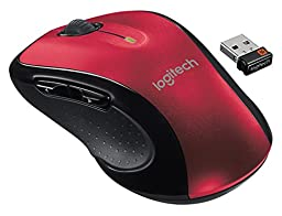 Logitech M510 Wireless Large Mouse, Red